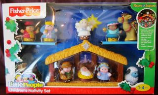 Fisher Price Little People Childrens Nativity Set Christmas New