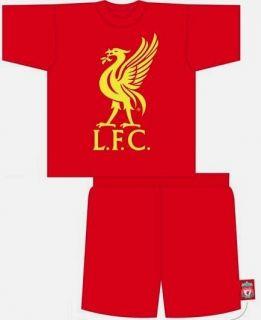 Liverpool Adults Mens Liverbird Pyjamas Shorts Red