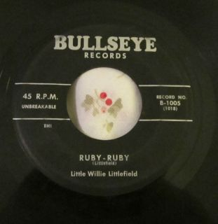 Little Willie Littlefield Original U s Bullseye 7 45 Ruby Ruby Easy