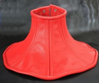 Red Over Shoulder Real Cow Leather Neck Corset s XL