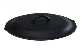 Pre Seasoned Lodge Cookware Round 12 Inch Cast Iron Pan Skillet Cover