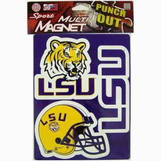 NCAA College LSU Tigers Basketball Team Logo Magnet Set Car Refrig