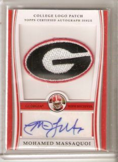 Mohamed Massaquoi 09 Topps College Logo Patch Auto 250