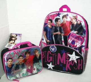 Time Rush School Backpack Lunch Box Logan Kendall James Carlos