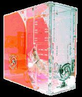NEW LOGISYS Computer YIN YANG CS889RD Clear Red Clear Acrylic ATX