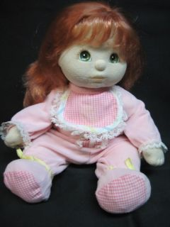My Child Doll Red Long Hair Green Eyes Original Outfit Pink