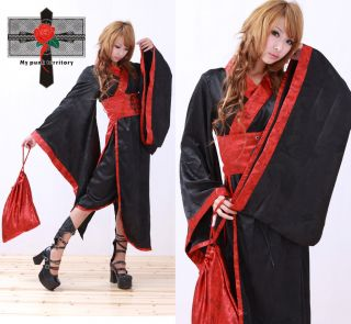 Kyoto Japan Geisha Satin Gothic Lolita EGL Pouch Kimono