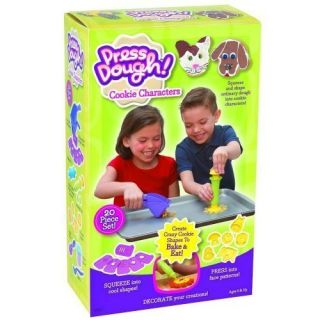 Little Kids Press Dough Bake Cook Cookie Shapes Cutters