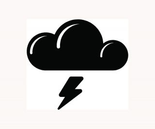 Car Vinyl Window Decal Laptop Cloud Rain Lightning Fun LOL