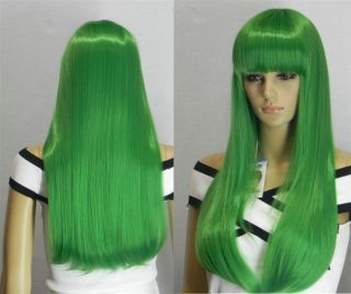 0033 Green Long Straight Cosplay Full Wig Wholesale Wigs