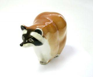 USSR Russian Lomonosov LFZ Porcelain Raccoon Figurine