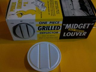 1 Pack Mini Midget Louver 1/'/' Round Circular Air Vent Cover QTY:6