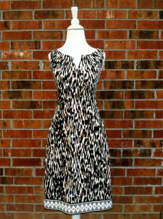 London Times Leopard Print Sleeveless Dress Size 8