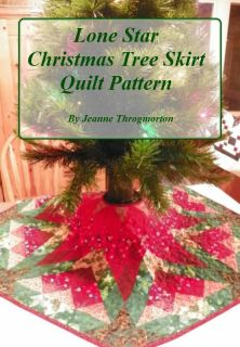 Lone Star Christmas Tree Skirt Quilt Instructions Pattern Only