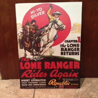 Lone Ranger Tin Wall Sign Home Decor 10 x 14