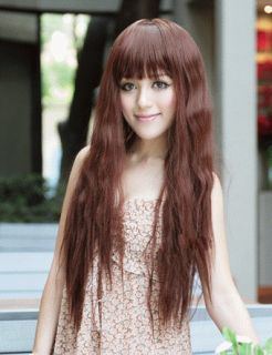 Corn Stigma Long Wave Fluffy Full Wig High Heat Resistant Hair Can Be