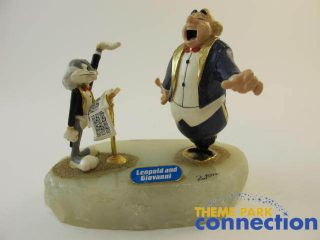 Looney Tunes Ron Lee LE 1500 BUGS BUNNY Leopold Giovanni Figure Signed