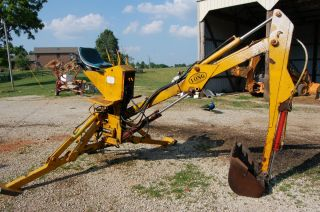 Long 3 Point Hitch Backhoe Attachment