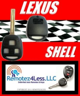New Replacement Lexus Long Blade Key Remote Shell Case