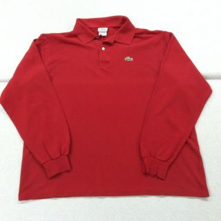 Lacoste Long Sleeve Polo Shirt Mens 8 XXL