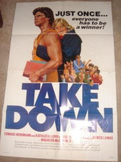Take Down Movie Poster Maureen McCormick Lorenzo Lamas