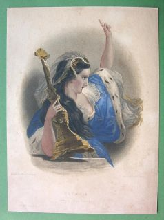 Lord Byron s Love Olympia with Crucifix Finely Hand Colored H C