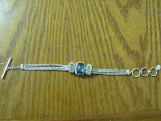 Lori Bonn Thin Silver Bracelet with Charms Jewelry