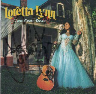 Loretta Lynn Signed Van Lear Rose Album CD Autograph Jack White 100