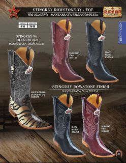 Los Altos 3X Toe Genuine Stingray Mens Western Cowboy Boots Diff