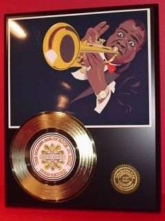 Louis Armstrong 24KT Award Quality Gold 45 Record Edition Display Free
