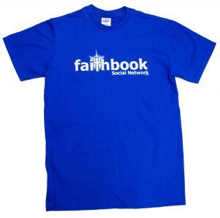 Christian T Shirt Faithbook Add Jesus Friend Medium