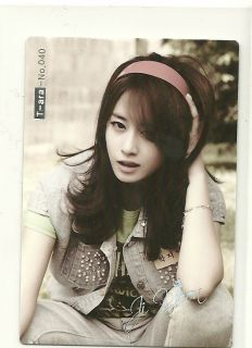 2011 Lotte K pop Trading Card Ji Yeon 40 T ara Tiara Korean Kpop Star