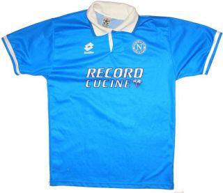 Lotto SSC Napoli Calcio Oldschool Italy Vintage RARE Shirt Oficial M