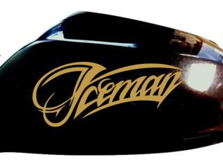 New Iceman Kimi Raikkonen Lotus F1 Wing Mirror Race Car Stickers Gold