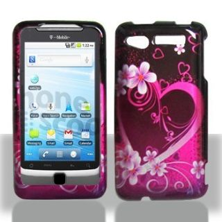 Purple Love Hard Case Phone Cover for Verizon HTC Merge ADR6325