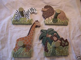 Home Interiors Jungle Animal Monkey Lion Plaque x 4