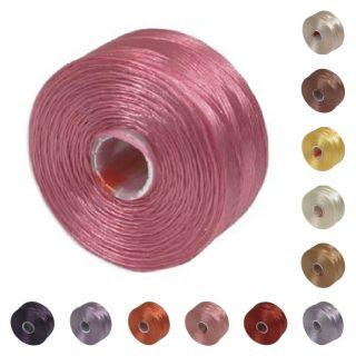 lon Beading Thread Mix 41980 (12 bobbins) Size D Pink Red Purple