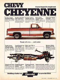 1973 Chevrolet Cheyenne Pickup Truck Classic Print Ad
