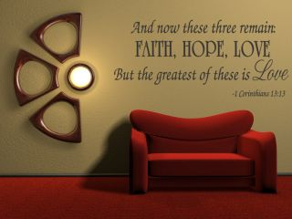 Hope Love Corinthians Wall Quote Decal Scripture Bible Verse Quotes