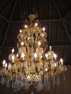 Big Antique Chandelier French Louis XVI