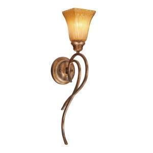 New in Box Hampton Bay Creme Brulee 1 Light Kendallwood Wall Sconce