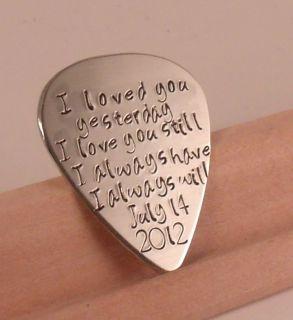 Love Quotes Custom Guitar Pick