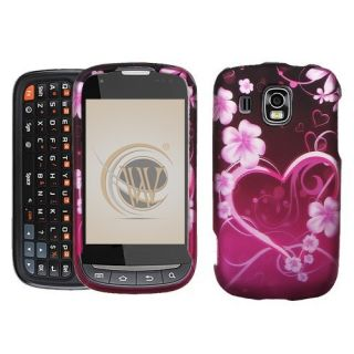 Purple Love Hard Protector Case Snap on Phone Cover for Samsung