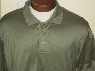 Mens Marbas Italian Green Golf Polo Shirt Italy Large