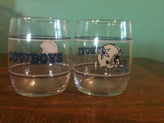 Dallas Cowboys Lowball Cocktail Glass Set