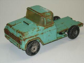 Vintage Buddy L Flat Bed Truck Pressed Steel