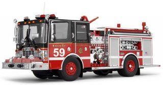 Code 3 Chicago Luverne Engine 59 Diamond Plate 1 32