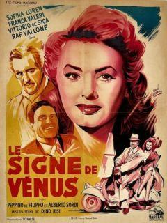 Sign of Venus 1956 Sophia Loren Great French Art 24x33