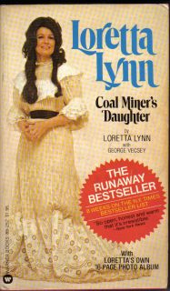 Loretta Lynn Coal Miners Daughter Warner Books 1976