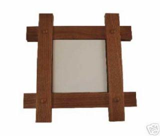 Alderwood Mission Style Frame for 6x6 inch Ceramic Tile Wooden